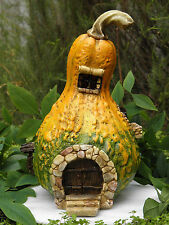 Miniature Dollhouse FAIRY GARDEN ~ Large Gourd House Cottage with Light ~ NEW