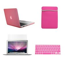 "4 in1 Rubberized PINK Case for Macbook PRO 13"" + Keyboard Cover +LCD Screen+ Bag"