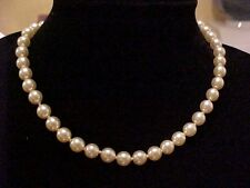 DKNY Vintage Necklace-Pearl-Majorca-1 strand/string necklace-Made 4 & signed
