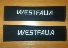 VW t25, t3, Westfalia seat belt pads with embroidered logo.
