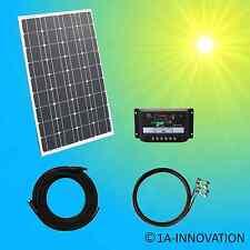 100W Komplett Set 12V Solaranlage Solarmodul Garten Camping Laderegler Watt Volt