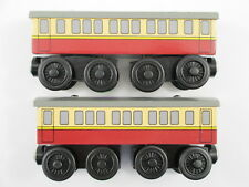 "VERY GOOD! RARE RETIRED WOODEN ""x2 EXPRESS COACHES"" THOMAS TRAIN WOOD COACH VGUC"