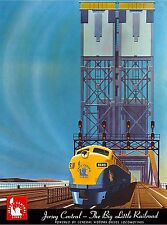 New Jersey Central Railroad United States America Travel Advertisement  Poster