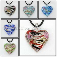 6 Pcs Fashion Women's Love lampwork Murano art glass beaded pendant necklace