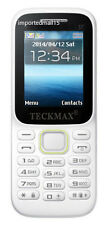 Brand New Teckmax Dual Sim /FM /Bluetooth/Torch/ Camera Mobile Phone Music 2 Sim