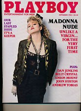 September 1985 Playboy GREAT GIFT Madonna Unlike a Virgin EXCELLENT COND