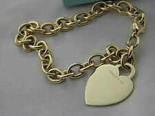 Tiffany&CO Tiffany Heart Tag Charm Bracelet 18K YELLOW GOLD, PRISTINE CONDITION