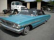 FORD GALAXIE 500 / MERCURY MONTEREY 1964 CONVERTIBLE TOP+GLASS WINDOW - BLACK
