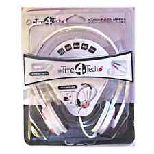 CASQUE STEREO MP3 DVD CD PC AUDIO AVEC MICRO CONTROLE DU VOLUME TIME TECH