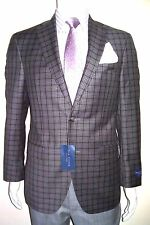 38R Jacket GORGEOUS Check Plaid Blazer Made in Canada 120's ZEGNA Fabric 100%W