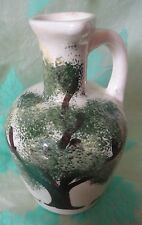Vintage Vermont Maple Syrup JUG spout & handle Hand Painted Tree motif pottery