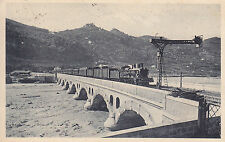 8627) VENTIMIGLIA TRENO SUL PONTE IN ARRIVO DALLA FRANCIA.
