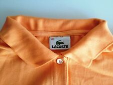 Lacoste Polo-Shirt Damen Kurzarm Orange Unifarben Baumwolle Gr. 40 / M