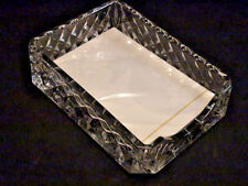 WATERFORD crystal EXECUTIVE DESK Note Paper TRAY  4 3/4 x 6 1/2 with paper