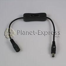 Interruptor con cable y conectores Hembra y Macho Jack DC para tira led, CCTV...