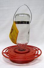 BEST 1 - Glass Hummingbird Feeder - Styrene Base -Multiple Feeding Ports - 8-oz