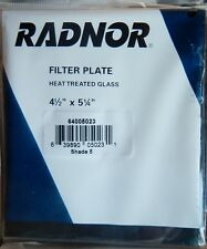 "Radnor 64005023 Shade 5 Filter Plate Heat Treated Glass Lens 4 1/2"" x 5 1/4"""