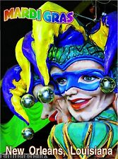 Mardi Gras New Orleans United States America Travel Advertisement Poster