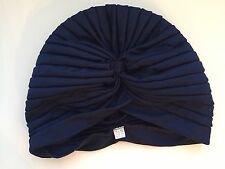 Navy Dark Blue Turban 1920s Vintage Look Hat BNWOT