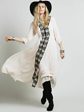 NEW FREE PEOPLE Journey To The Horizon Shell Dress - US 8 AU UK 12 - Boho Gypsy