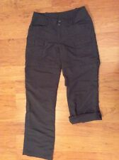 The North Face Women's Convertible Roll Up Shorts Capris Pants Dark Gray Size 2
