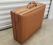"Hartmann Large Tan 24"" Belting Woodbox Pullman Suitcase Vintage (No Keys) Vinyl"