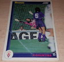 CARD SCORE 1993 FIORENTINA MANNINI CALCIO FOOTBALL SOCCER ALBUM
