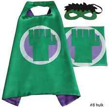 Kids gift Up Superhero Cape+Mask Set For Boy and Girl Cosplay Birthday CostumeBw