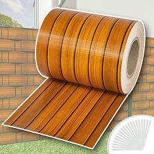 PVC Sichtschutz Streifen Sichtschutzfolie Doppelstabmatten Zaun Schutz 35m Holz