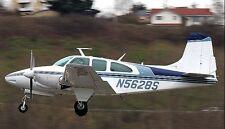 Beech D95A Travel Air Light Twin Aircraft Desktop Kiln Dry Wood Model Large New