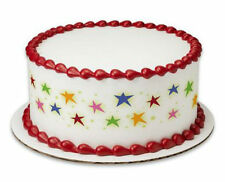 Stars Bright Colors edible image cake strips decoration sides frosting #19296