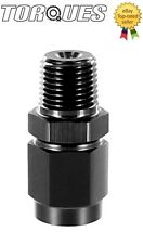"AN-4 (4AN) To 1/8"" NPT MALE Oil Pressure Sender / Gauge Take Off Adapter BLACK"