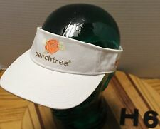 DEKUYPER PEACHTREE SCHNAPPS WHITE ADJUSTABLE VISOR HAT IN EXCELLENT CONDITION