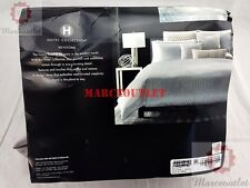 Hotel Collection Keystone FULL / QUEEN Duvet Cover Silver