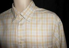 Ermenegildo Zegna L Shirt Plaid Yellow Blue Large