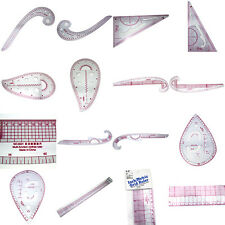 7pcs Clear Sew French Curve Metric Ruler Measure Set F Sewing Dressmaking Taylor