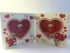 . 'Hugs' Hinged PHOTO FRAME Heart-Shaped apertures with bears