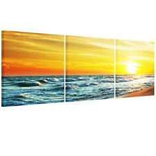Large Seaside Sunset Unframed HD Abstract Canvas Print Wall Art Picture Poster