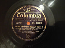 """ANDRE KOSTELANETZ & His Orchestra """"George Gershwin Medley"""" 78rpm 10"""" EX/NM"""