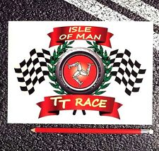 TT Isle of Man race Large Sticker With Tyre And Flags MOTO GP Yamaha Ducatti 46