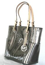 Michael Kors Handtasche Neu Jet Set Item Signature Tote nickel Bag Tasche MK