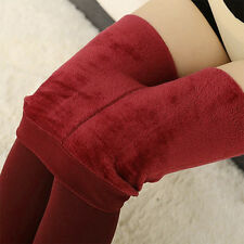 Women Ladies Thick Thermal Stretchy Slim Skinny Leggings Winter Warm Tight Pants