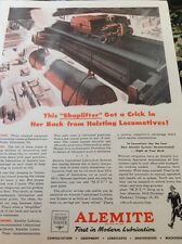 N1-6 Ephemera 1940s Ww2 Advert Alemite Engineering Baldwin Loco Works Pa