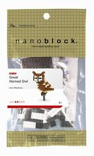 Great Horned Owl Nanoblock Micro Sized Building Block NBC_059 Mini Nano Block