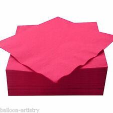 50 Hot Pink 33cm Paper Napkins Serviettes Birthday Wedding Party Catering