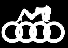audi girl sticker decal stance nation import tuner vinyl  illmotion JDM