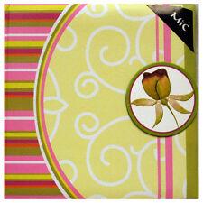 Album Fotografico - fiori retrò - Tiene 24 6x4s con spazio di Memo
