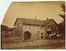 SUPER - Photo  - Johnson Sawmill - Collins NY  ca 1870  Albumen Erie County