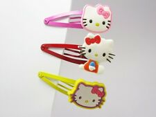 6 Hello Kitty Soft Rubber Hair Clip (6 pieces) Girl Children Barrette LK253
