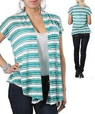 NEW SEXY Women TOP White Green Blue stripes Cover Up PLUS SIZE 1 XL 2XL 3XL